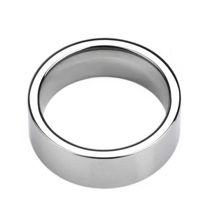 Promise Rings - 8mm Polished Silver Tungsten Mens Ring