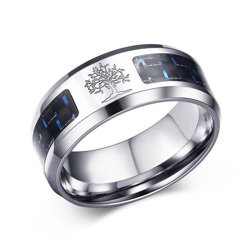 Promise Rings - 8mm Tree Of Life Stainless Steel Unisex Ring