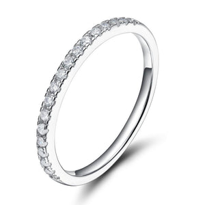 Promise Rings - Cubic Zirconia 925 Sterling Silver Womens Ring