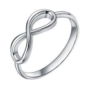 Promise Rings - Infinity Knot 925 Sterling Silver Silver Womens Ring