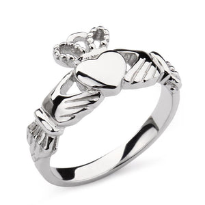 Promise Rings - Irish Claddagh 925 Sterling Silver Womens Ring