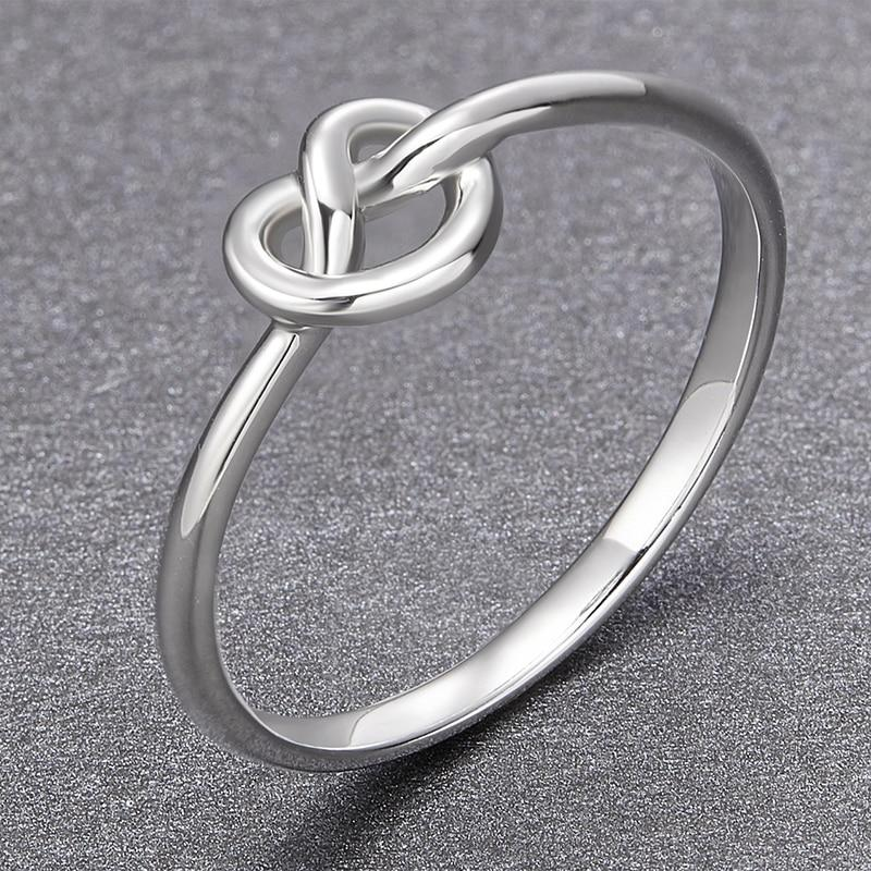 Promise Rings - Knot 925 Sterling Silver Women's Knuckle Ring