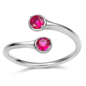 Promise Rings - Personalized Birthstones 925 Sterling Silver Women's Ring