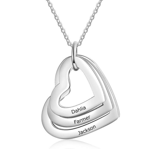 Necklaces - Personalized Heart Necklace - 2-4 Engravings & Pendants