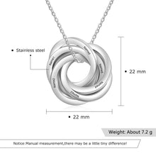 Necklaces - Personalized Intertwined Circle Necklace - 6 Engravings