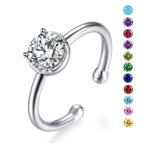 Promise Rings - Personalized Birthstone 925 Sterling Silver Womens Ring