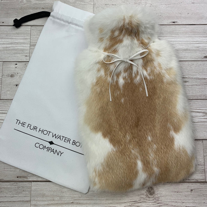 Photo of a rabbit fur luxury hot water bottle - 245-1