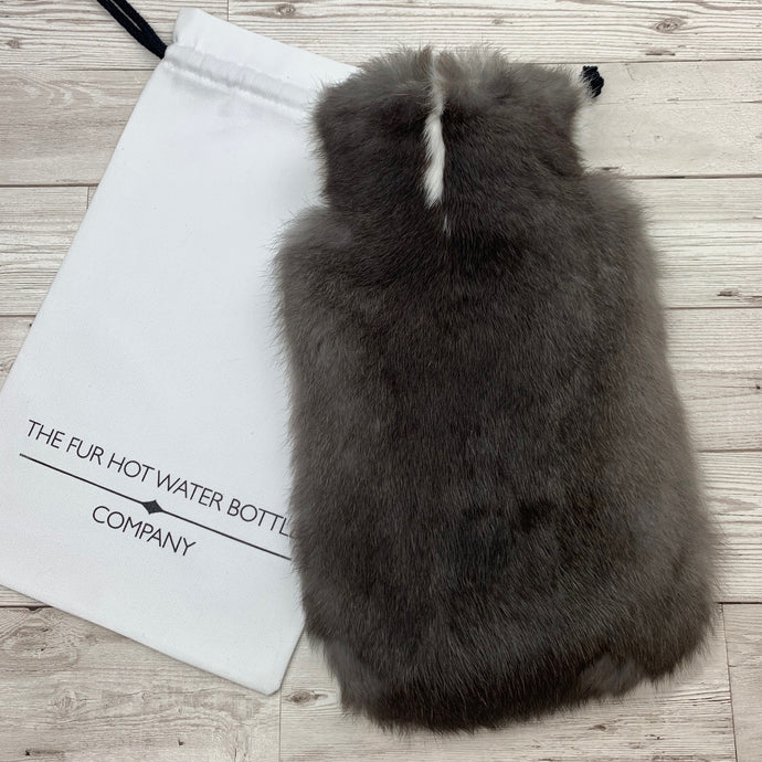 Luxury Real Fur Hot Water Bottle - Large - #250