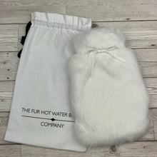 Rabbit Fur Hot Water Bottle - Small - Winter White