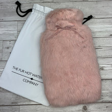 Pink Luxury Fur Hot Water Bottle - Large - Peony Pink