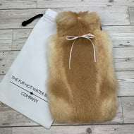 Real Fur Hot Water Bottle - Large - #203