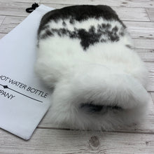 Photo of Black and White Fur Luxury Hot Water Bottle 151-1