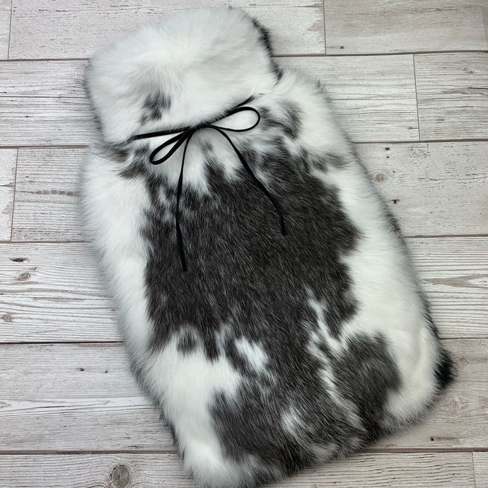 Luxury Rabbit Fur Hot Water Bottle - Large - #171/1
