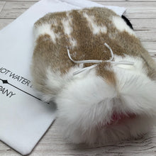 Real Rabbit Fur Hot Water Bottle - Small - #225/2