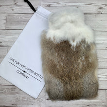 Luxury Rabbit Fur Hot Water Bottle - Large - #239/3