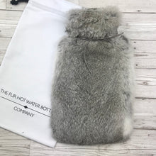 Photo of a Real Rabbit Fur Hot Water Bottle Chinchilla Grey 3