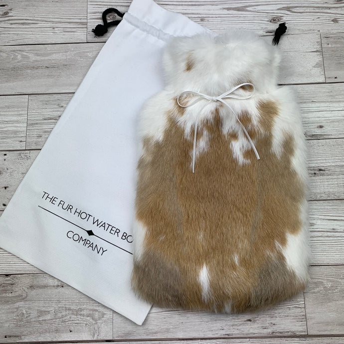Luxury Rabbit Fur Hot Water Bottle - Large - #191/1