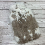 Rabbit Fur Hot Water Bottle - Large - #192