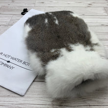Photo of Brown and White Fur Luxury Hot Water Bottle 136-3