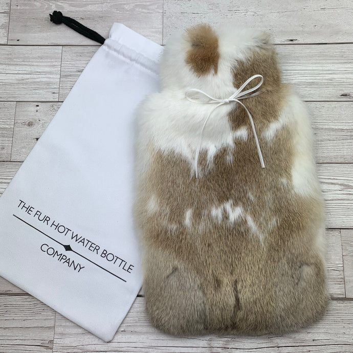 Rabbit Fur Luxury Hot Water Bottle - Large - #233/1