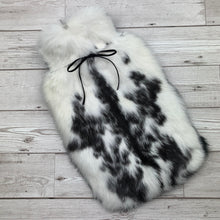 Photo of a black and white fur hot designer hot water bottle 167-3