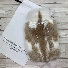 Real Rabbit Fur Hot Water Bottle - Small - #225/3