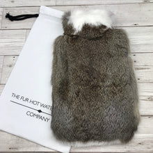 Real Fur Hot Water Bottle - Large - The Collared Collection #143