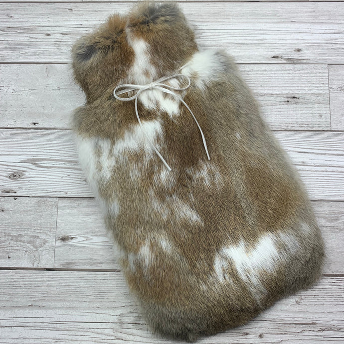 Luxury Hot Water Bottle - Rabbit Fur - Large - #216/1