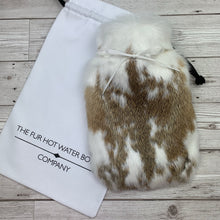 Luxury Rabbit Fur Hot Water Bottle - Small - #226/3