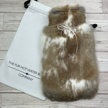 Luxury Hot Water Bottle - Rabbit Fur - Large - #216/3