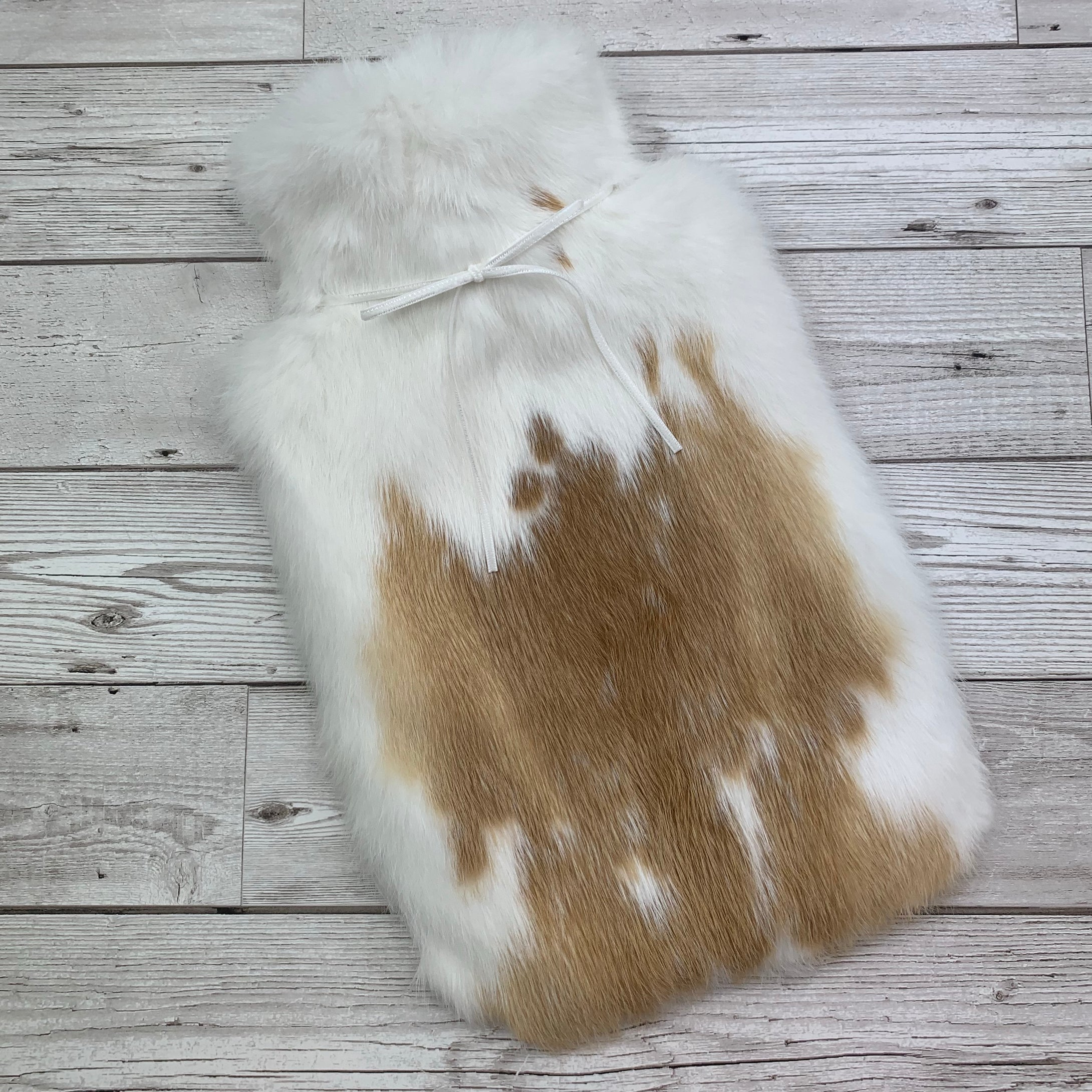 Luxury Rabbit Fur Hot Water Bottle - Large - #209