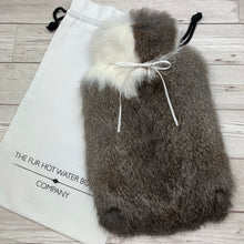 Luxury Rabbit Fur Hot Water Bottle - Large - #184/3