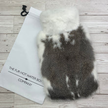 Photo of Brown and White Fur Luxury Hot Water Bottle 136-2