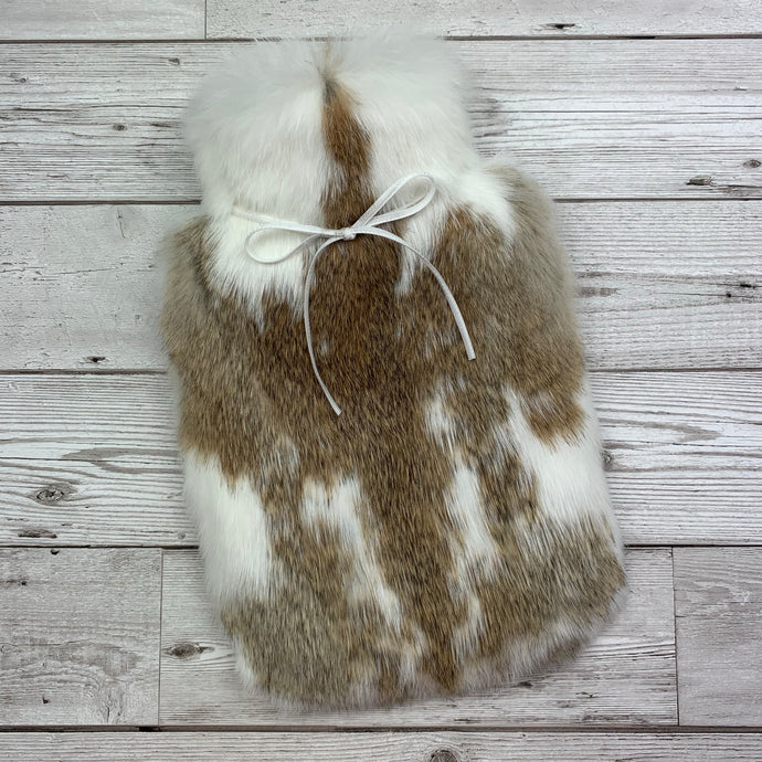 Real Rabbit Fur Hot Water Bottle - Small - #225/1