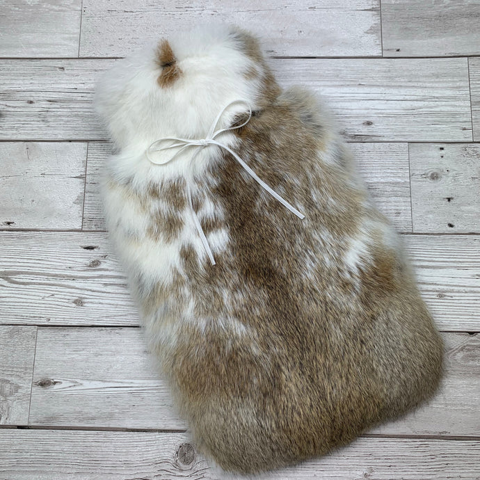 Luxury Rabbit Fur Hot Water Bottle - Large - #179/1