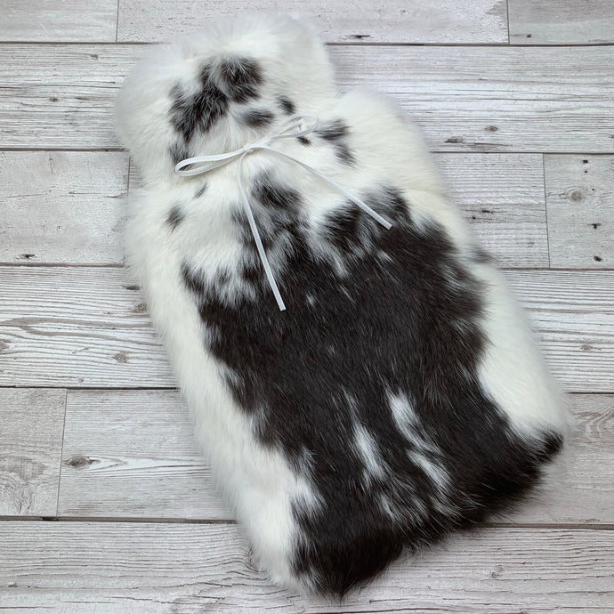 Luxury Rabbit Fur Hot Water Bottle - Large - #180/1
