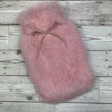 Blossom Pink Luxury Fur Hot Water Bottle - Small