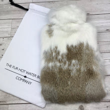 Real Fur Hot Water Bottle - Large - The Collared Collection #142