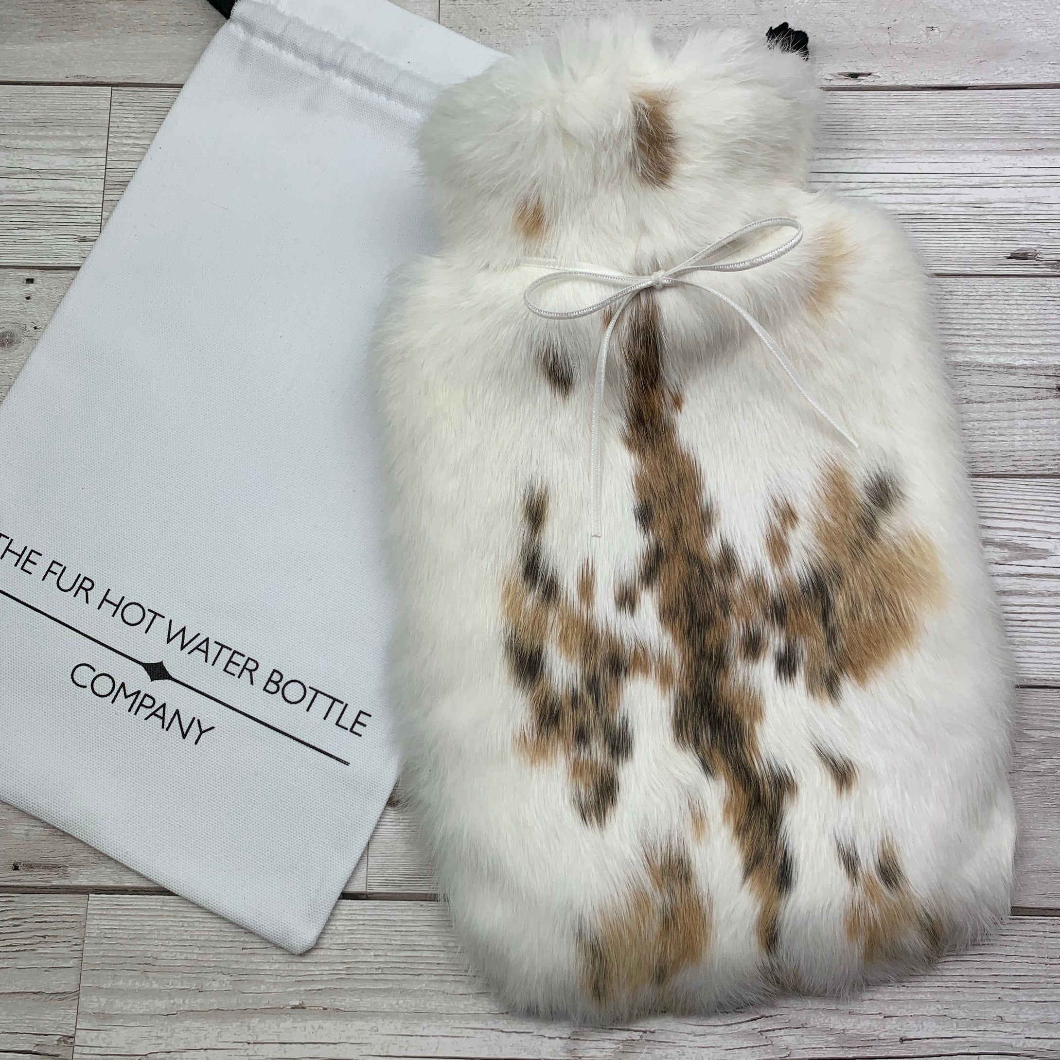 Luxury Rabbit Fur Hot Water Bottle - Large - #236/1 - Premium