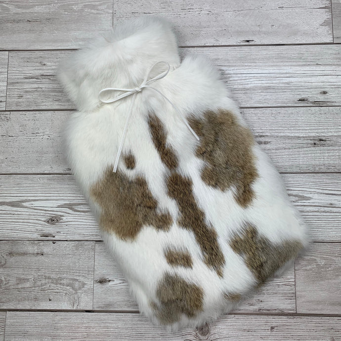 Luxury Rabbit Fur Hot Water Bottle - Large - #185/1