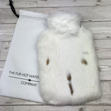 Real Fur Hot Water Bottle - Large - The Mottled Collection #145