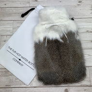 Luxury Rabbit Fur Hot Water Bottle - Large - #204