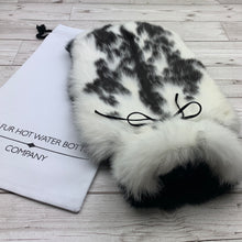 Photo of a black and white fur hot designer hot water bottle 167-2