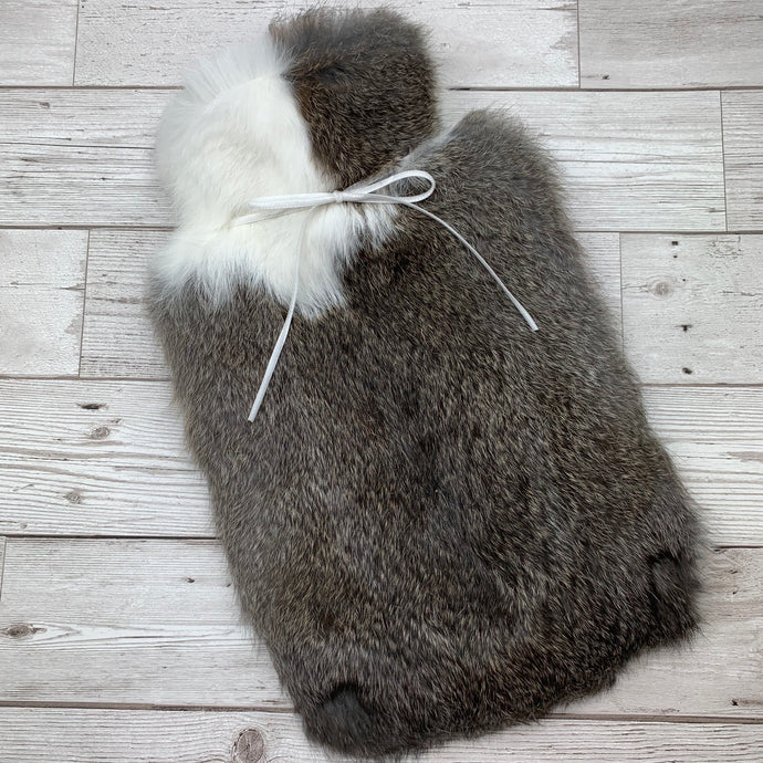 Luxury Rabbit Fur Hot Water Bottle - Large - #184/1