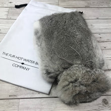 Photo of a Real Rabbit Fur Hot Water Bottle Chinchilla Grey 4