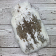 Luxury Rabbit Fur Hot Water Bottle - Large - #195