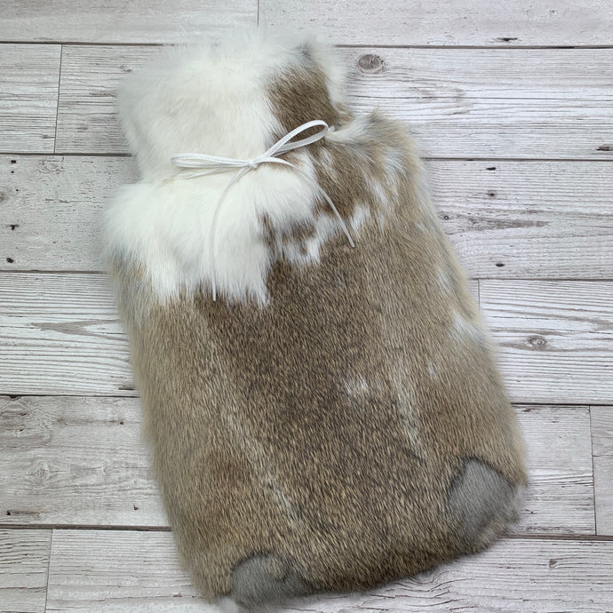 Luxury Rabbit Fur Hot Water Bottle - Large - #235/1