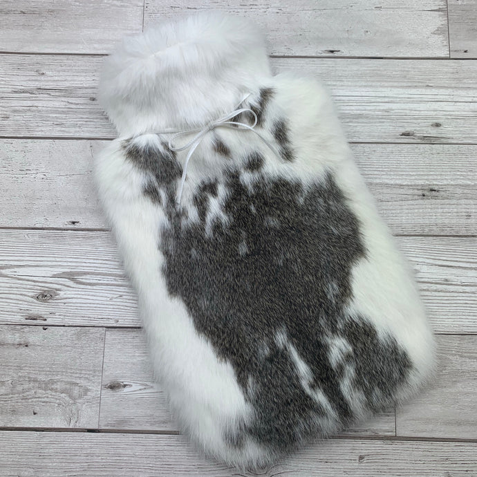 Photo of a brown and white luxury hot water bottle 155-1