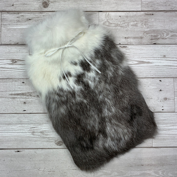 Hot Water Bottle - Rabbit Fur - Large - #271 - Premium
