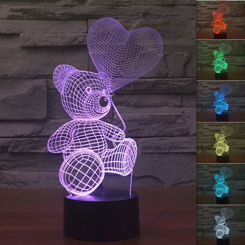 3D Bear - LED Lamp